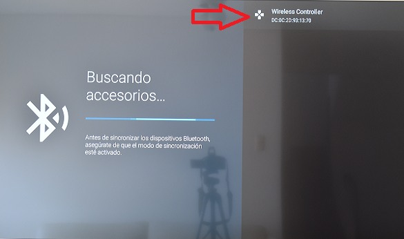 Opción Wieless controller en Smart TV Android TV