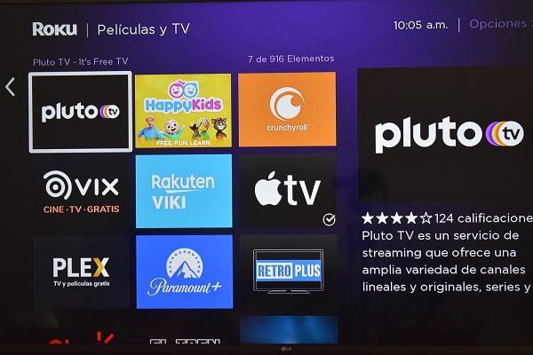 Pluto TV en Roku